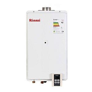 Aquecedor a Gás GLP Rinnai REU 2802 FEC 35 Litros Branco