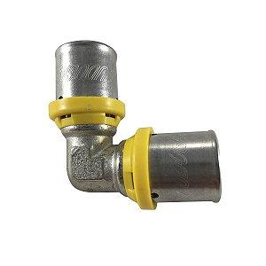 Cotovelo 26mm X 26mm para Tubo Pex Gás de 26mm Tudogás