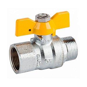 Válvula  Esférica Borboleta 3/4 M X F para Água Tudogás
