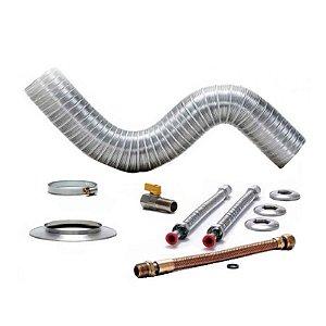 Kit de peças para instalação de Aquecedor 157 BR Rinnai e Cooktop