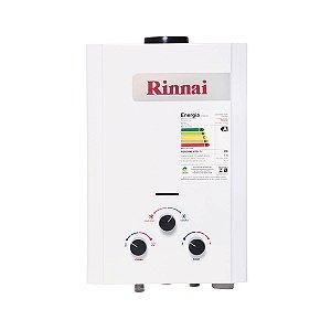 Aquecedor a Gás GLP Rinnai REU M071 CFH 7,5 Litros