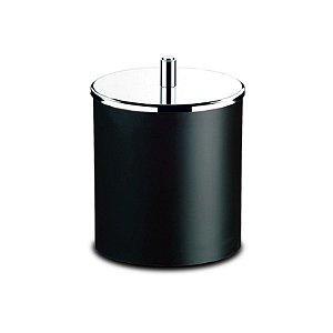 Lixeira PP Preta Tampa Inox 18,5 x 23 cm Brinox