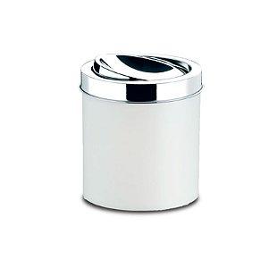 Lixeira PP Branca com Tampa Basculante 18,5 x 20 cm Brinox