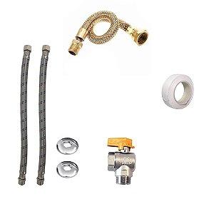 Kit Instalação Aquecedor a Gás Rinnai 20 Litros REU M20