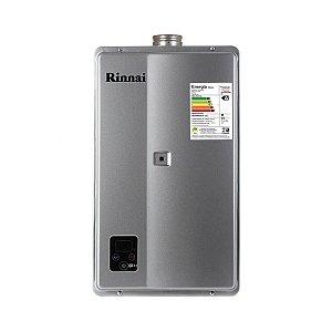 Aquecedor a Gás Rinnai E33 FEHG 32,5 Litros GN Prata