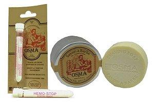 Kit Stick Hemostático + Sabão de Barbear OSMA