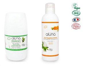 Kit Desodorante Natural Sem Alumínio Aloe Vera 50ml e Sabonete Higiene Intima Orgânico e Vegano 200ml - OSMA Laboratoires
