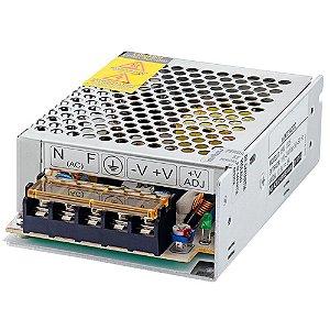 Fonte Chaveada Estabilizada 12VDC 5A 60W para CFTV e Fita Led