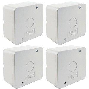 Kit 4 Caixa de Proteção Organizadora para CFTV IP55