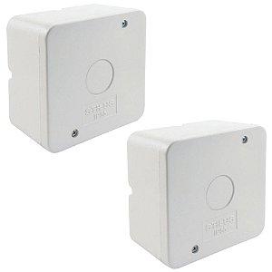 Kit 2 Caixa de Proteção Organizadora para CFTV IP55