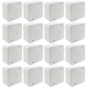 Kit 16 Caixa de Proteção Organizadora para CFTV IP55