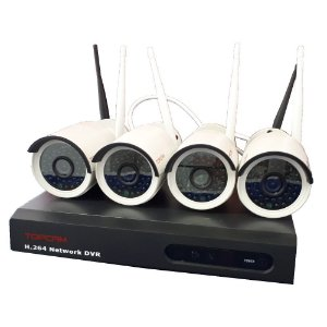 Kit 4 Camera Ip Wireless Infra Externa HD 720p Dvr Wifi / Nvr Sem Fio P2P