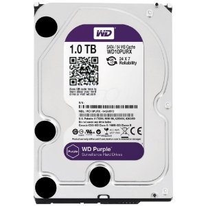 Hd 1TB Sata 3,5 Western Digital WD Purple Surveillance 64MB Cache SATA 6.0Gb/s - WD10PURX