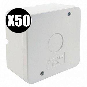 Kit 50 Caixa de Proteção Organizadora para CFTV IP55
