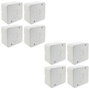 Kit 8 Caixa de Proteção Organizadora para CFTV IP55
