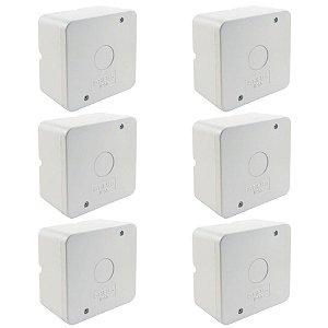 Kit 6 Caixa de Proteção Organizadora para CFTV IP55