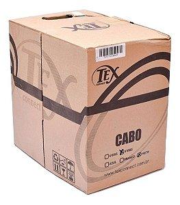 Cabo Cftv Rede Lan Utp Cat5 8 Vias 4 Pares Preto Cx 305m Tex Connet