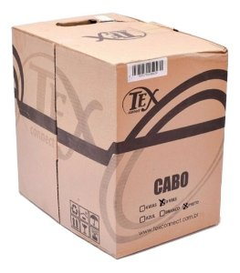 Cabo Cftv Rede Lan Utp Cat5 4 Pares Preto 305m Tex Connet