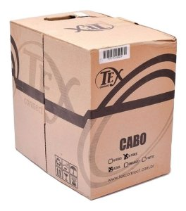 Cabo Cftv Rede Lan Utp Cat5 8 Vias 4 Pares Azul Cx 305m Tex Connet