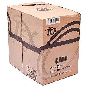 Cabo Cftv Rede Lan Utp Cat5 4 Pares Branco 305m Tex Connet