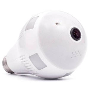 Camera Lampada Espia Ip Wifi 360 HD Áudio Bidirecional e Led