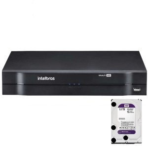 Dvr Intelbras 4 canais Mhdx 1104 Multi HD + HD 1TB Purple