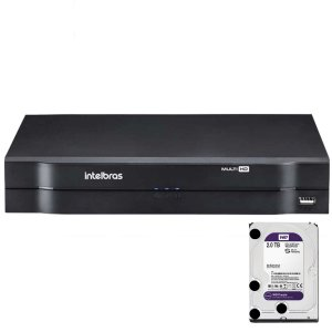 Dvr Intelbras 4 canais Mhdx 1104 Multi HD + HD 2TB Purple