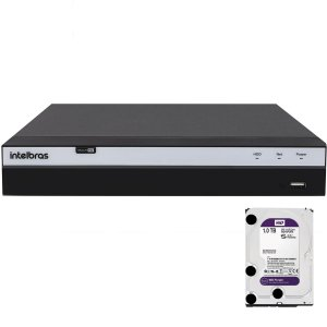Dvr Intelbras 4 canais Mhdx 3104 Full HD + HD 1TB Purple