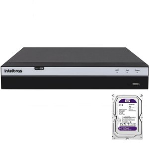 Dvr Intelbras 4 canais Mhdx 3104 Full HD + HD 3TB Purple