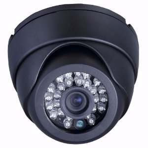 Camera Dome Ccd 1/3 Sony 700 Linhas 26 Leds Infra 25m 3,6mm