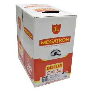 Cabo Rede Lan Utp Cat5e 4 Pares Preto Anatel 305m - Megatron
