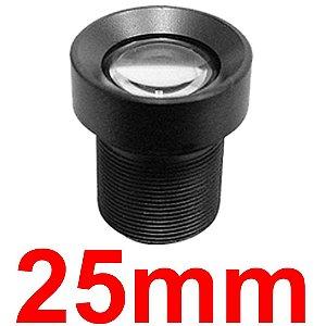 Mini Lente 25mm Para Mini Câmera e Micro Câmera - Lente Cftv