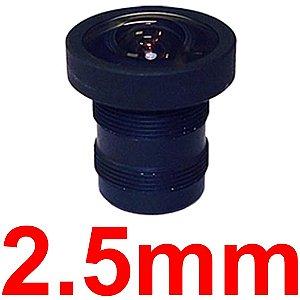 Mini Lente 2.5mm Para Mini Câmera e Micro Câmera - Lente Cftv