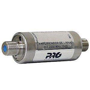 Amplificador Satelite Antena Parabolica Banda C Ou Ku 20db 950-2250mhz PQAL-2010 - Proeletronic