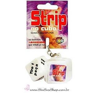 Dado erótico chaveiro Strip
