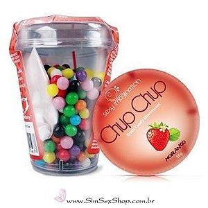 Bala efervescente Chup Chup Erotik Candy sabor morango 36 g