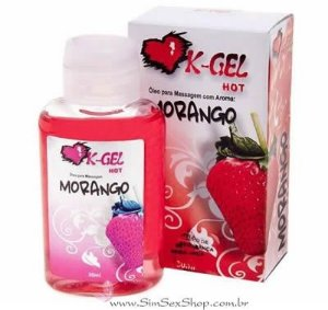 Óleo para massagem K-Gel Hot morango 30 ml