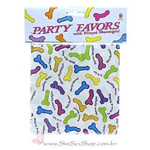Guardanapo erótico Party Favors com desenhos de pênis com 6