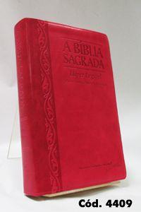 Bíblia Gigante - Morango/Cereja - Letra Hiper Legível