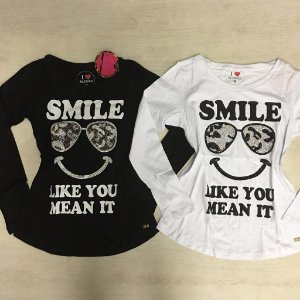 T-Shirt Manga Longa Smile Blessed