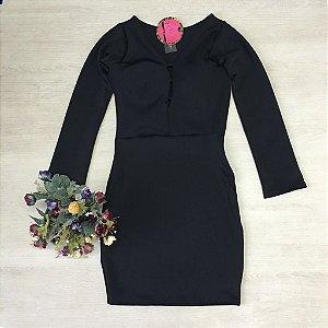 Vestido Black De Neoprene Com Bojo