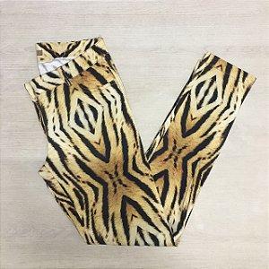 Calça Leopard Skinny Chocoleite