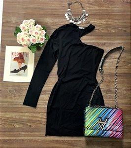 Vestido Black De Um Ombro Só