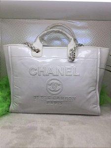 Bolsa Chanel Tote Cambon Couro