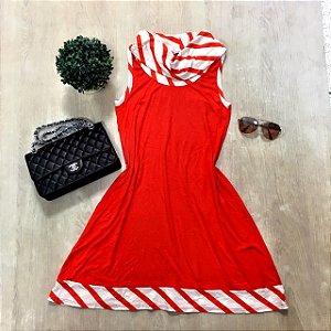 Vestido Gola Listras
