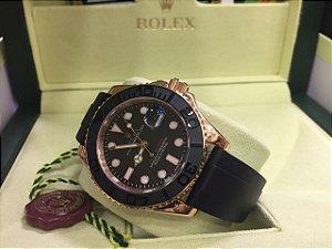Relógio Rolex Yacht master Borracha Siliconada Preta