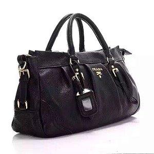 Bolsa Couro Prada Black