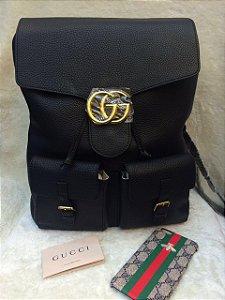 Mochila Couro Black Gucci