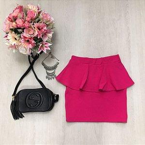 Saia Pink Babado
