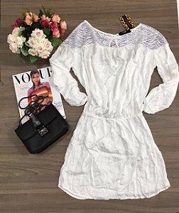 Vestido Off White Lon